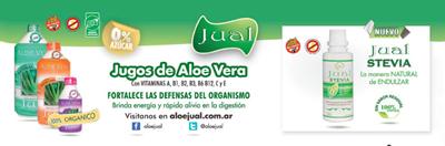 Jugos Bebibles de aloe vera orgánico JUAL y stevia JUAL endulzante natural