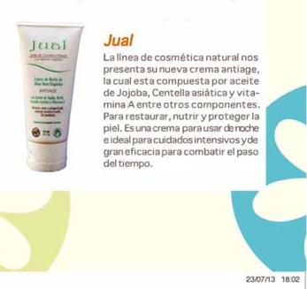 Nueva Crema JUAL