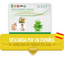 Descargar catálogo de productos de aloe vera orgánico JUAL
