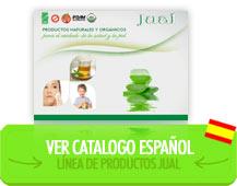 Ver línea de productos de aloe vera orgánico JUAL